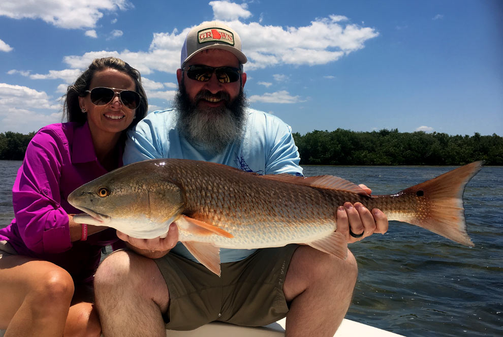 Charter fishing guide services for Catching big fish